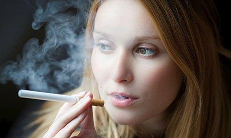 Person Smoking E-Cigarette
